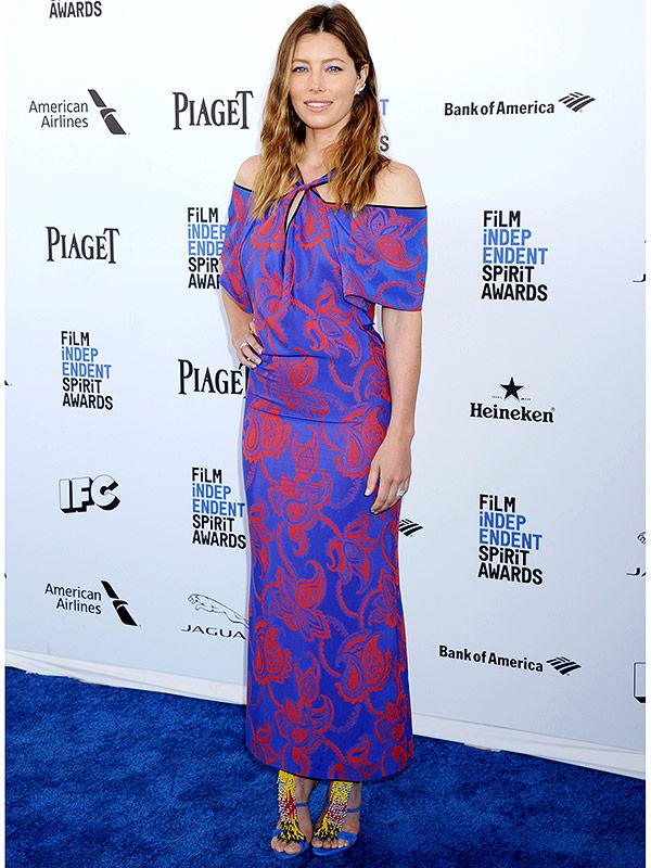 Jessica Biel Indie Spirit Awards dress