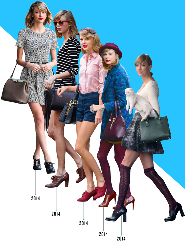 Taylor Swift Shoe Style Evolution