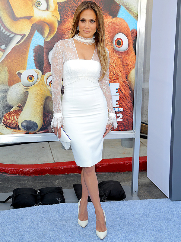 Jennifer Lopez Ice Age Collision Course red carpet