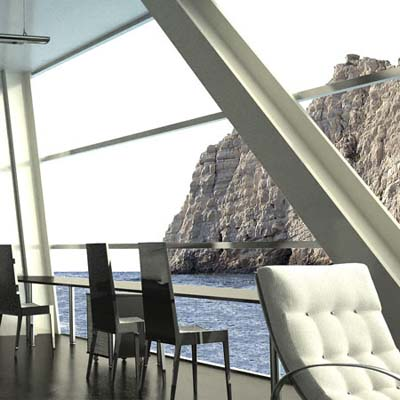 formodesign house on the water in the Mediterranean sea