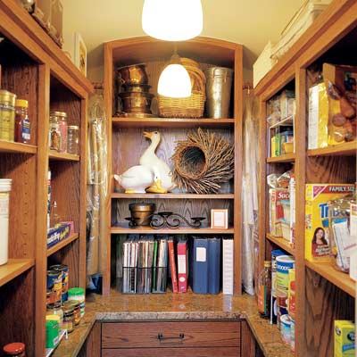 u shaped closet pantry