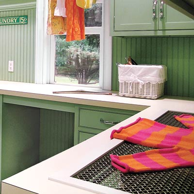 bright and spacious laundry room with ample counter space