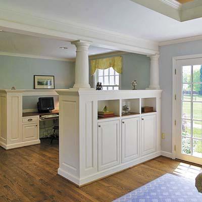 columned room divider
