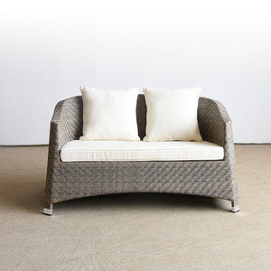 small white resin outdoor 2 two seater