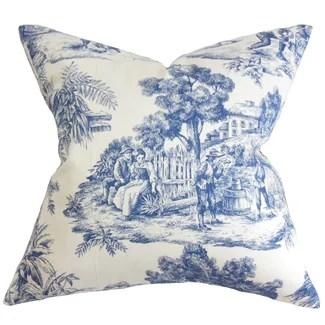 The Pillow Collection Evlia Toile Pillow