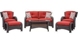 Hanover Outdoor Strathmere 6 Piece Seating Group With