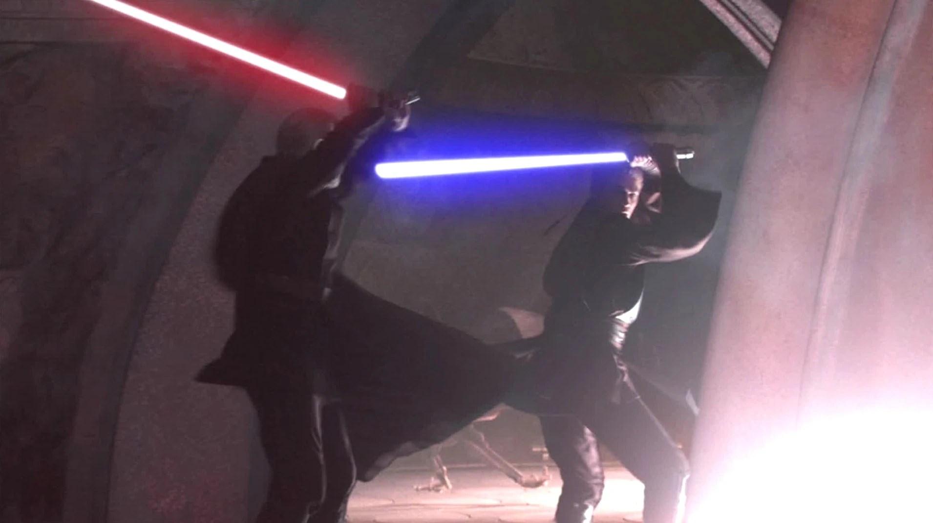 tyranus battles anakin skywalker