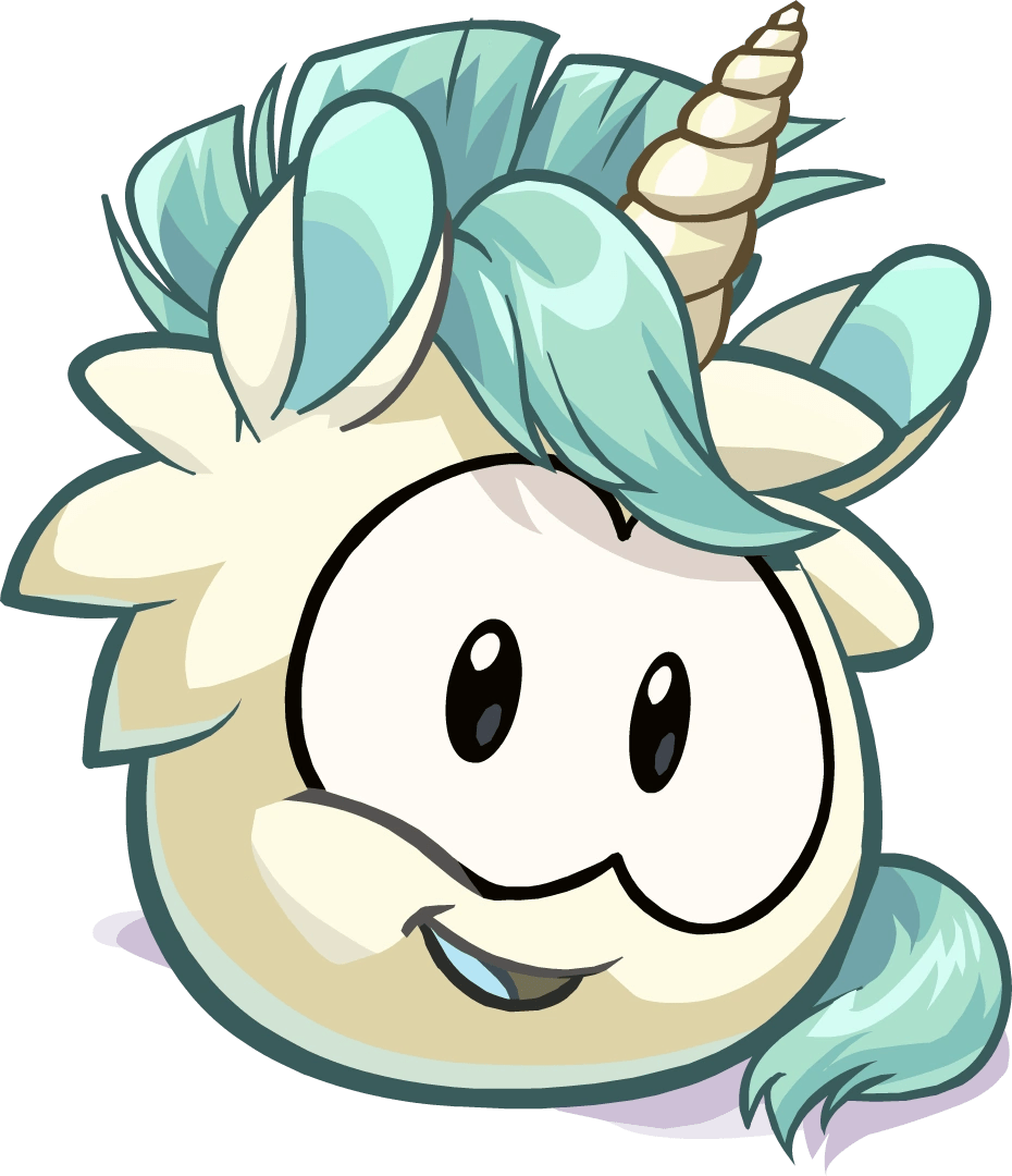 unicorn puffles are mythical puffles you could transform into them at
