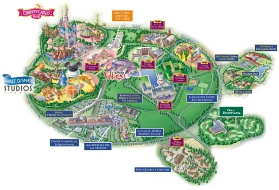 Located Disney Paris Map