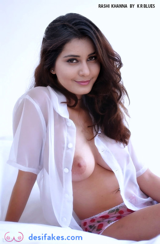 Raashi Khanna Nude Boobs fake