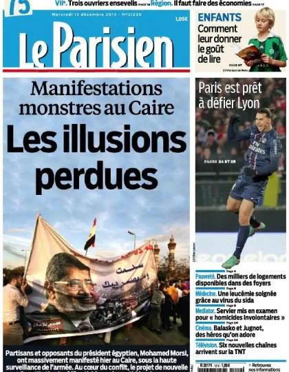 Le Parisien + Cahier Paris Mercredi 12 Décembre 2012