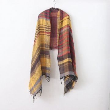 MOCOTTON SHAWL MIDDLE COTTON100% #ONLY ONE [20A032] _ tamaki niime | 玉木新雌