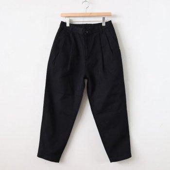 EASY EGG PANTS CHINO CLOTH #BLACK [A11913] _ HARVESTY | ハーベスティ