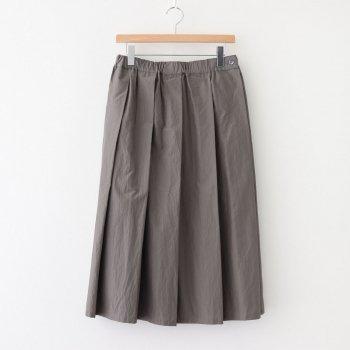 ダブルウェザープリーツスカート #GRAY [SK20506] _ pub   ピューブ