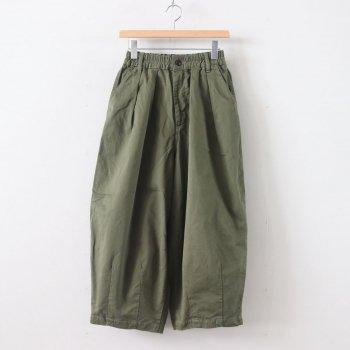 CIRCUS PANTS CHINO CLOTH GARMENT DYED #MILITARY GREEN [A11709] _ HARVESTY   ハーベスティ