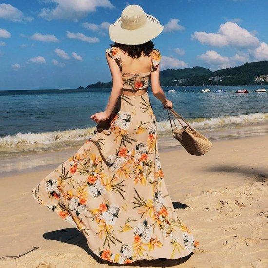 リゾートワンピース 可愛い アロハ ハワイアン