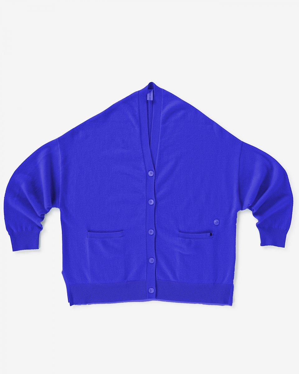 カシミアオーバーサイズカーディガン ブルーの写真