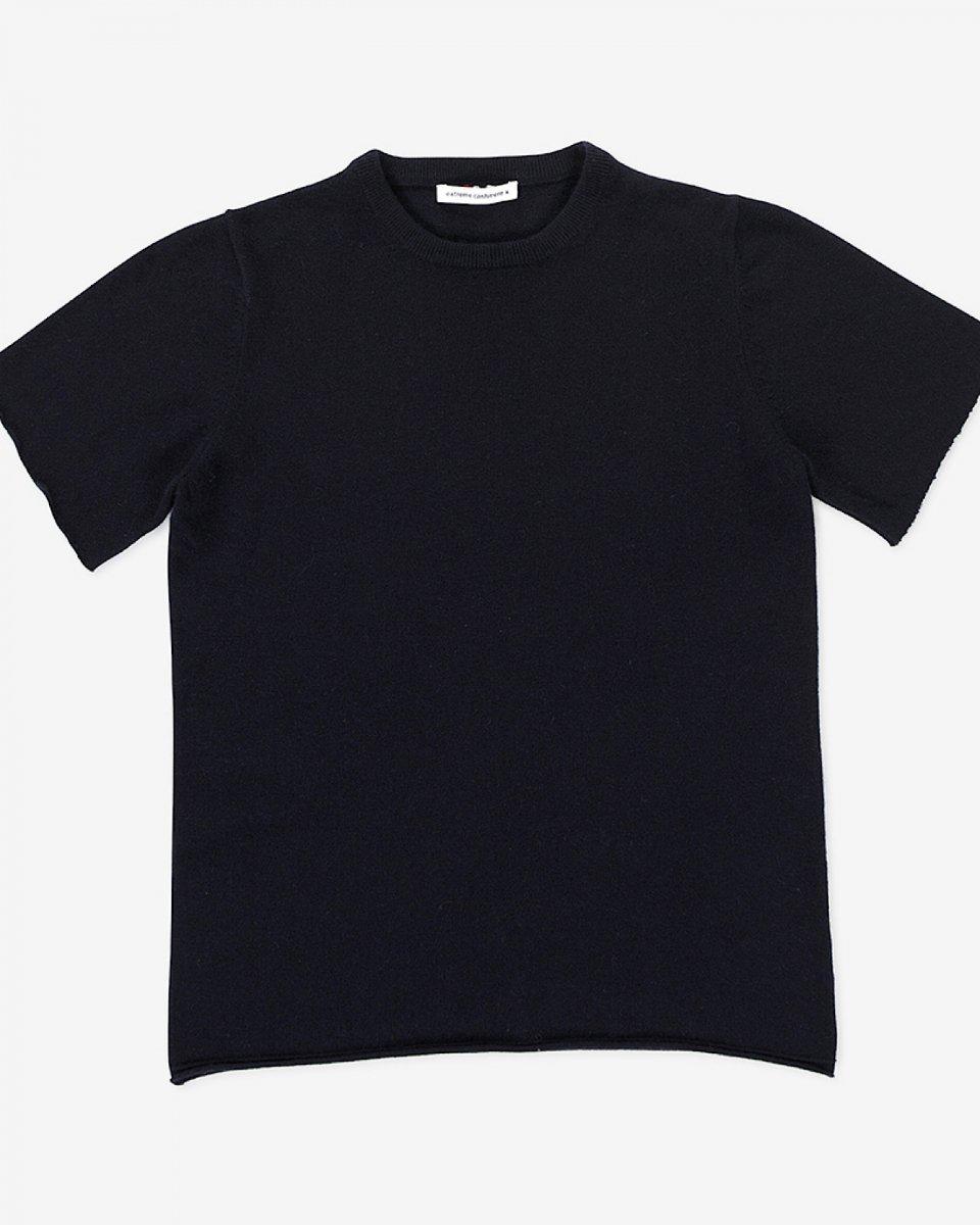 カシミアTシャツ ネイビーの写真