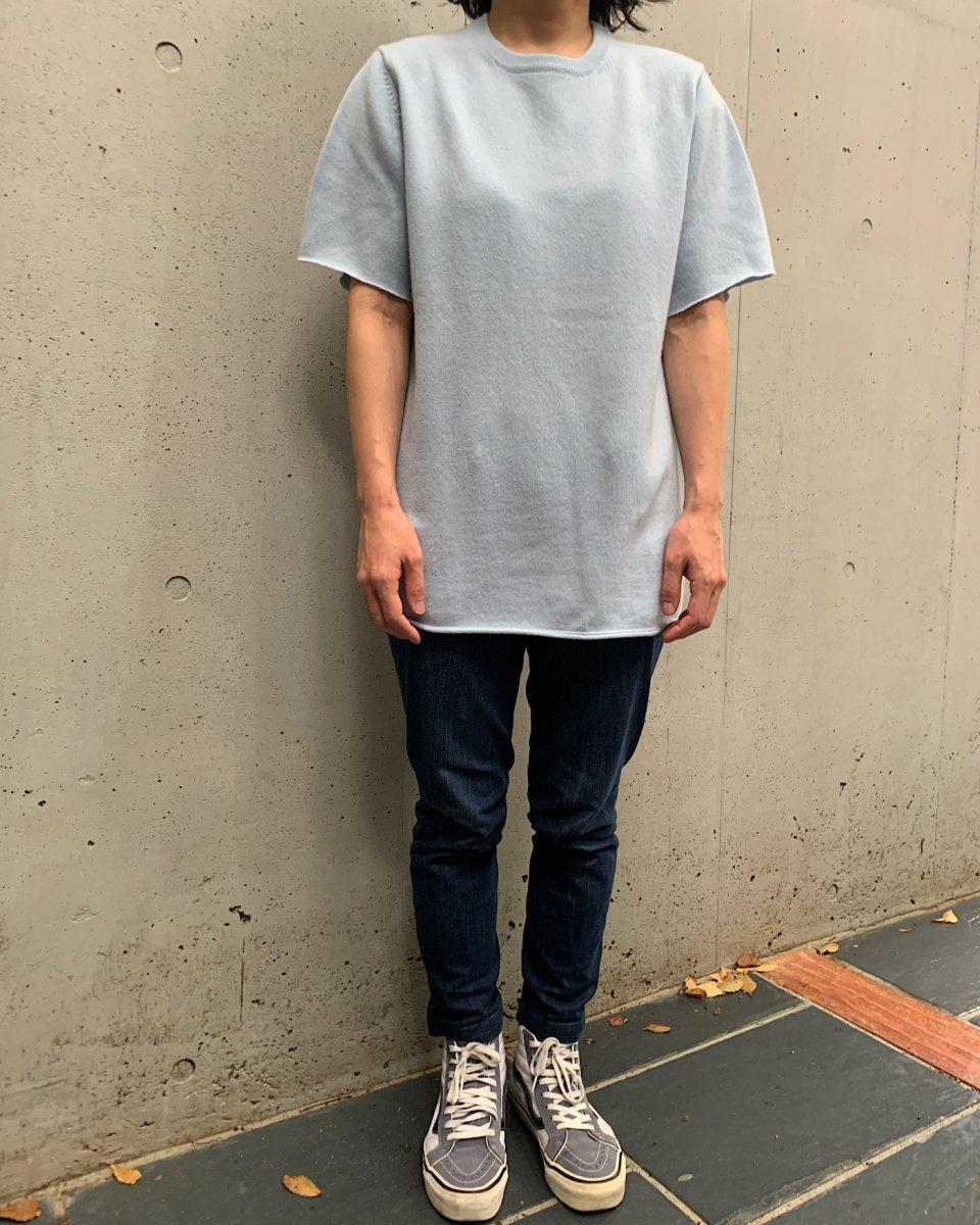 カシミアTシャツ ベビーブルーの写真