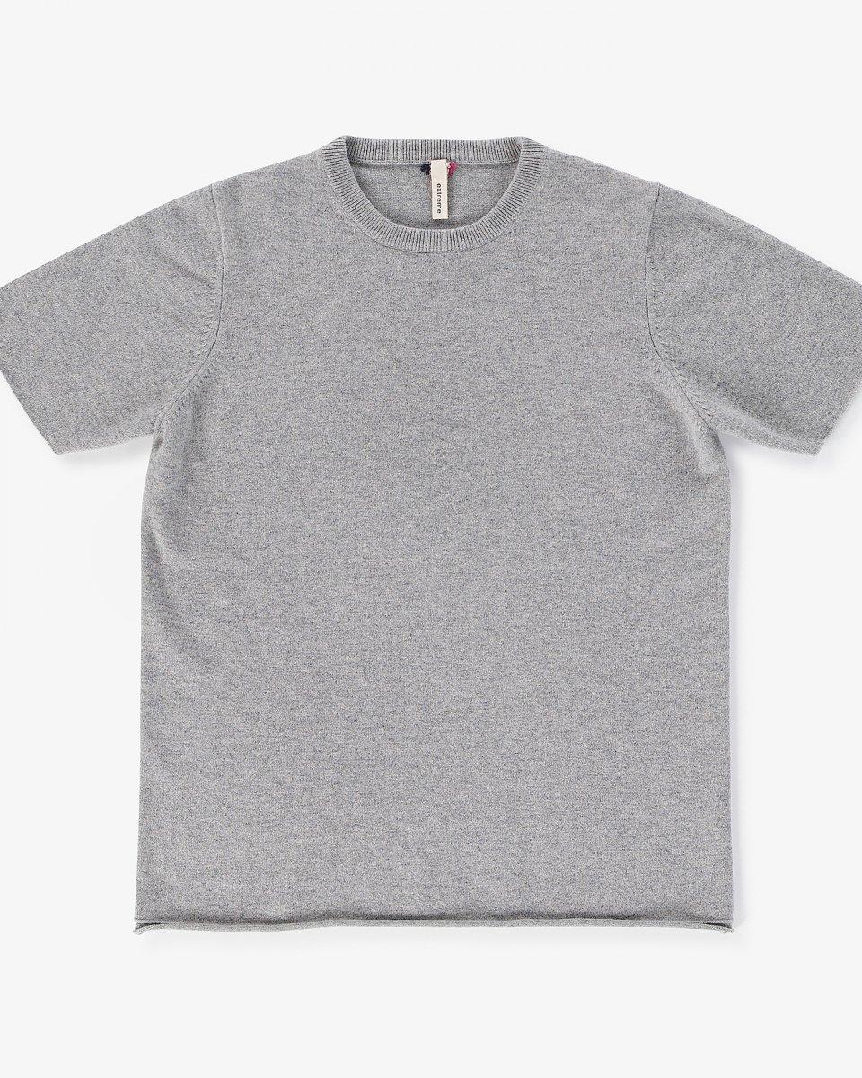 カシミアTシャツ ライトグレー