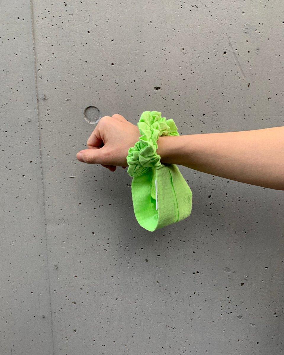 シアサッカーマスク ペールライムグリーンの写真
