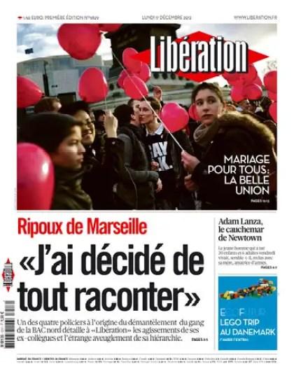 Libération Lundi 17 Décembre 2012