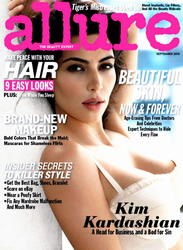 Kim Kardashian shows her boobs in new issue of Allure magazine - Hot Celebs Home