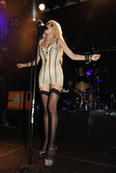 Taylor Momsen in lingerie (upskirt shoots ... sheer panties?) performs at the O2 Islington Academy in London - Hot Celebs Home