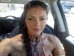 Adrianne Curry show off her body in skimpy Princess Leia costume - Hot Celebs Home