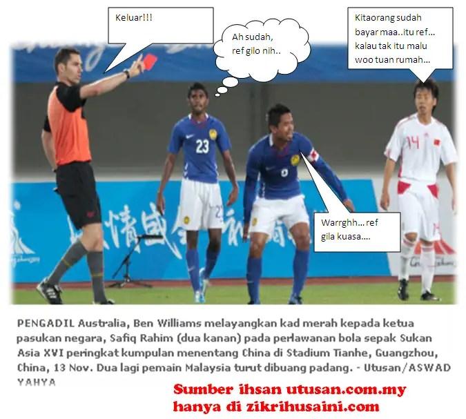 ref australia, pengadil australia, ben william, biodata ben william, say no to ben william,