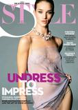 Rosie Huntington Whiteley in lingerie posing for Sunday Times Style Dec 2009 - Hot Celebs Home