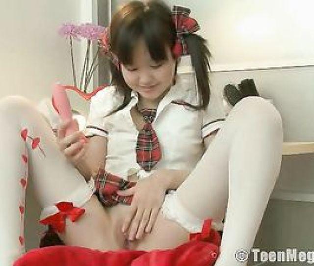 240 Asian Teen Flirt Puts On The Cutest Schoolgirl Outfit