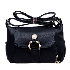 Women PU Leather Elegant Handbag Leisure Shoulder Crossbody Bag