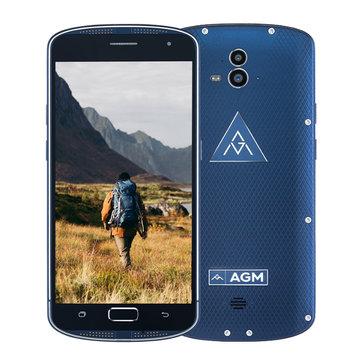 AGM X1 5.5'' IP68 Fingerprint 4GB RAM 64GB ROM Snapdragon 617 Octa-Core 1.5GHz 5400mAh 4G Smartphone