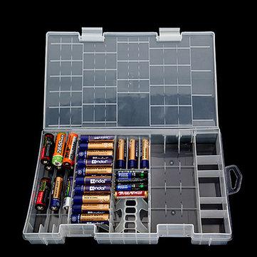 AAA AA C D 9V Battery Holder Hard Plastic Case Storage Box Rack Transparent US699