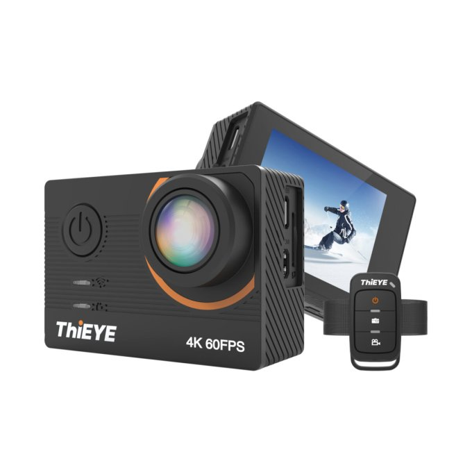 ThiEYE T5 Pro 4K Ultra HD Video Live Stream WiFi Stabilizer EIS Remote Control Waterproof Sport Action Camera