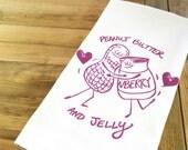 Peanut Butter and Jelly Tea Towel - fiskandfern