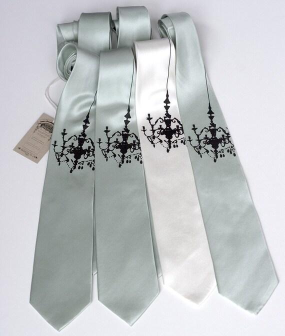 3 custom silk neckties. Groomsmen ties - wedding/group multiple discount