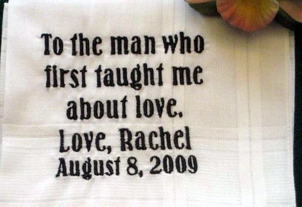 Personalized Wedding Gift - Wedding Handkerchief for Father of the Bride  with Gift Box 4B