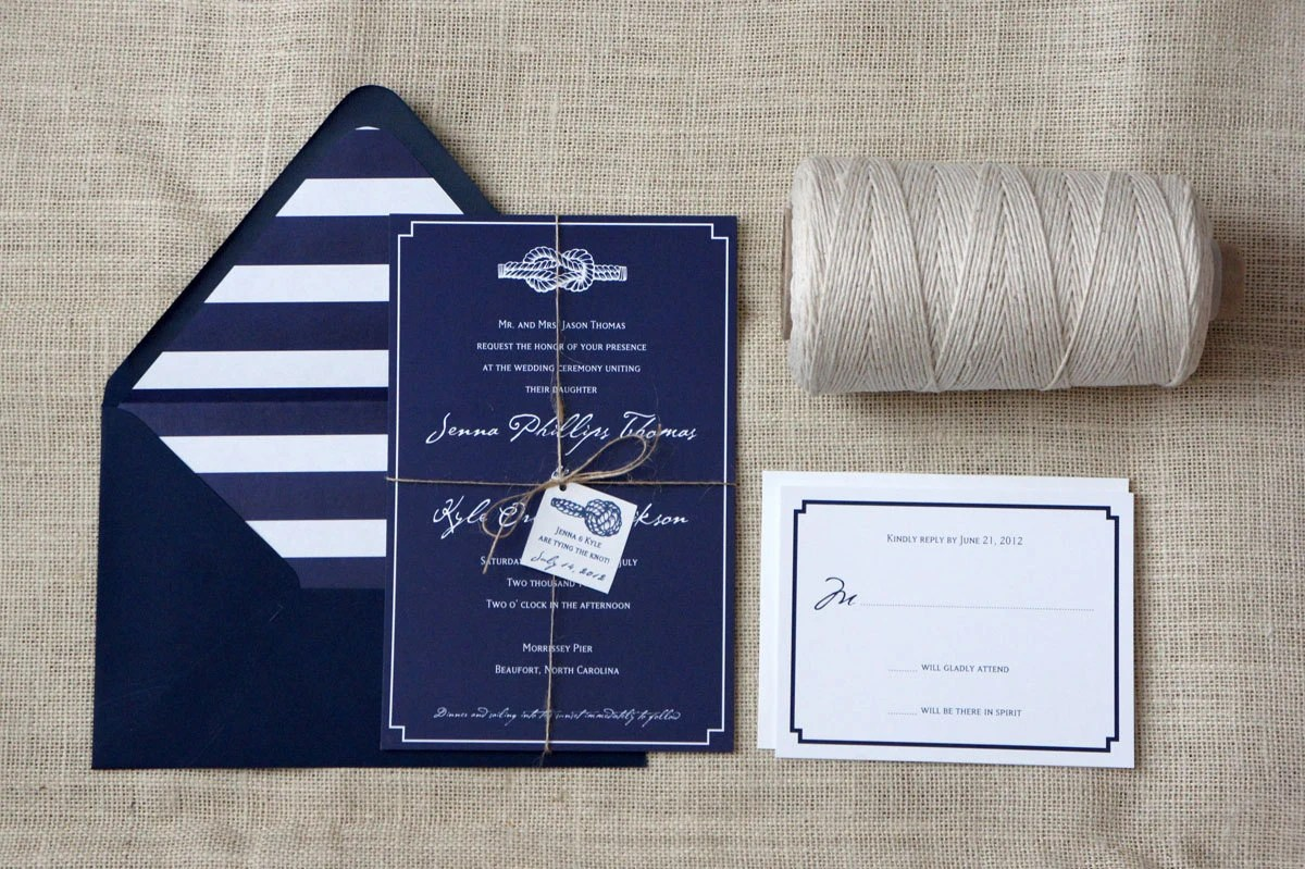 Nautical Knot Wedding Invitation Sample