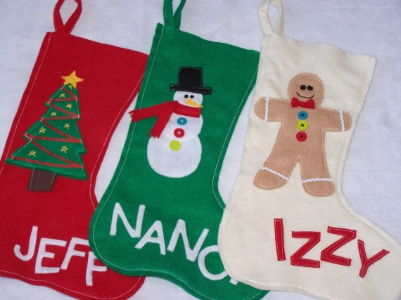 Set of 4 Christmas Stockings--4 for 3 Deal - nowhiningpleez
