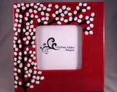 White Willows on Ruby Red Frame - chutneyblakedesigns