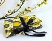 Jewelry Roll - Design Your Own Custom Gift for Her - Yellow & Granite Aviary Collection - JCarterHandmade