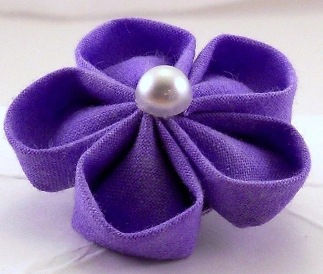 Lavender Flower Brooch - obachansflowers