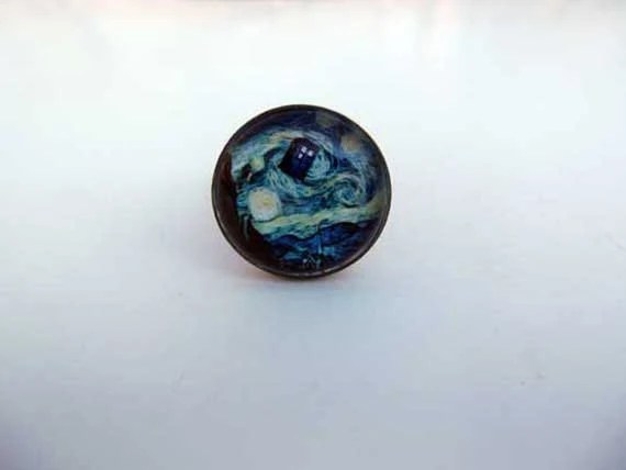 TARDIS Starry Night Ring