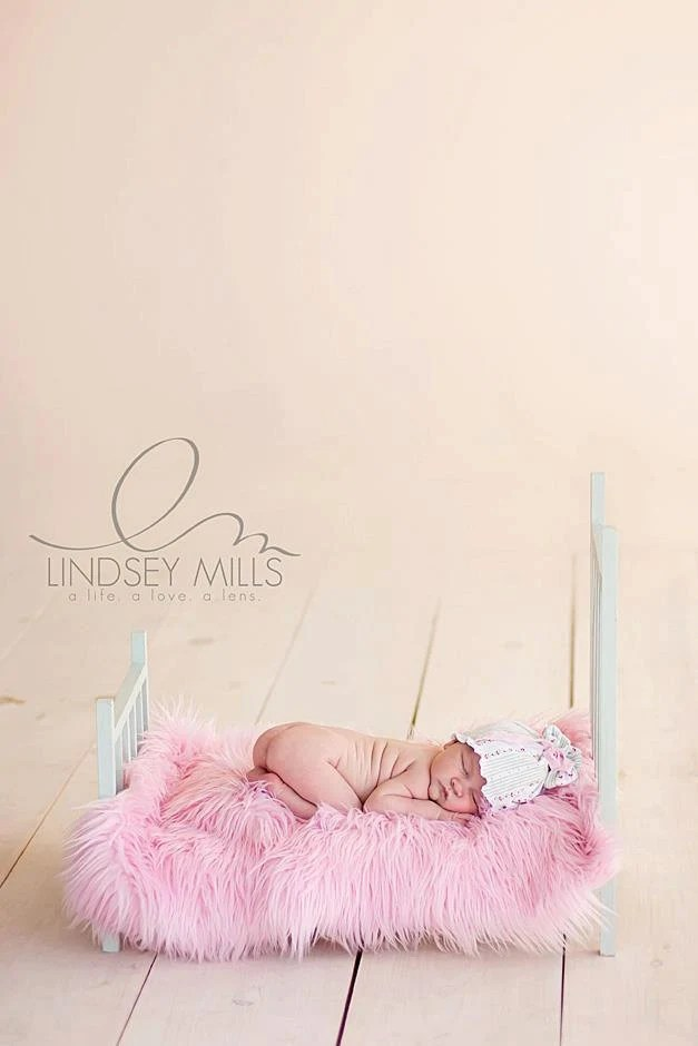 SALE - Soft Pink, Cozy, Cuddly Faux Fur Nest - Perfect Newborn Photography Prop - Plush Long Pile - LeightonHeritage