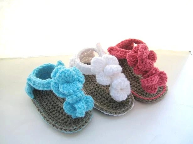Crochet Pattern Baby Booties, Crochet Baby Sandals Pattern, Baby Booties Crochet Pattern, Orchid Sandals (pdf pattern for sale)