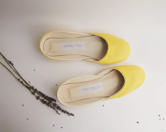 new. Soft leather ballet flats. Sweet lemon.
