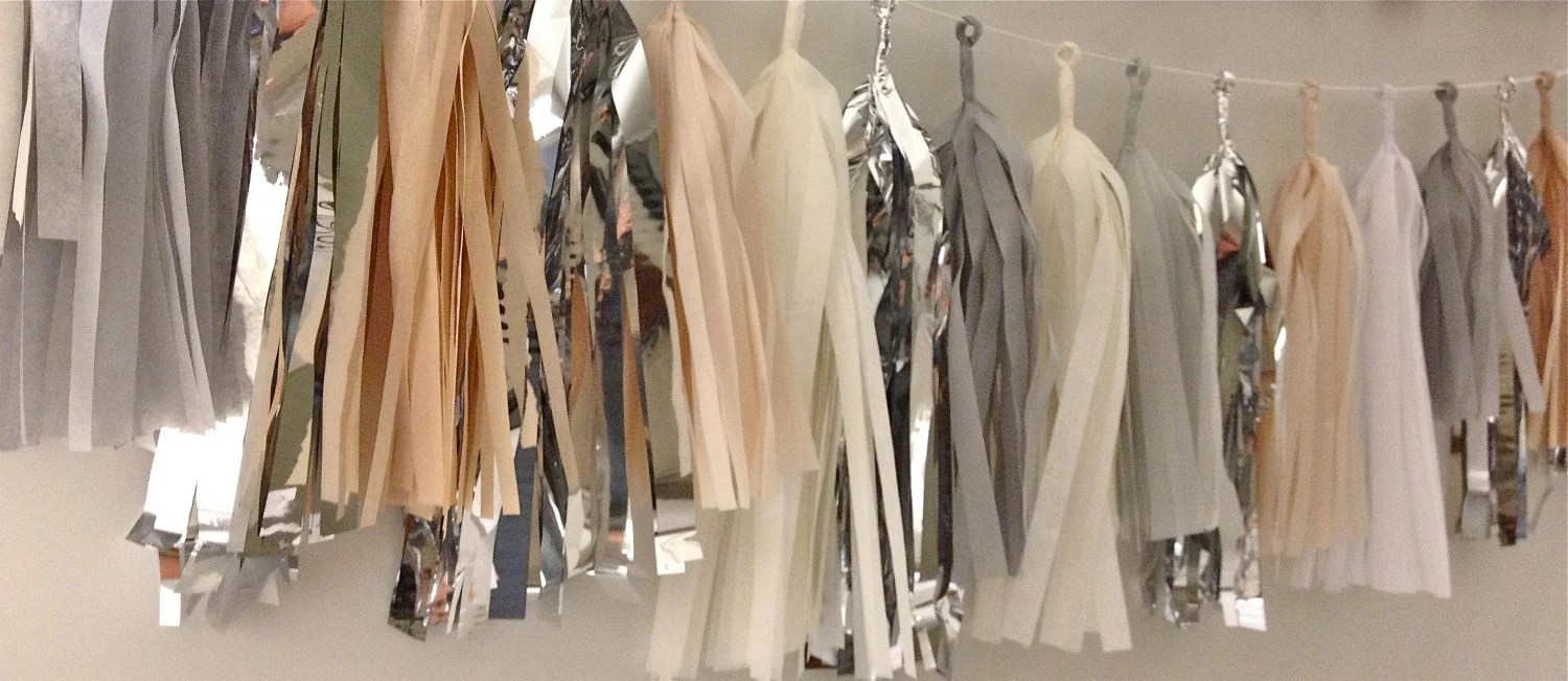 Not Necessarily Nude 27 Sparkle & Shine Tissue Tassel Garland
