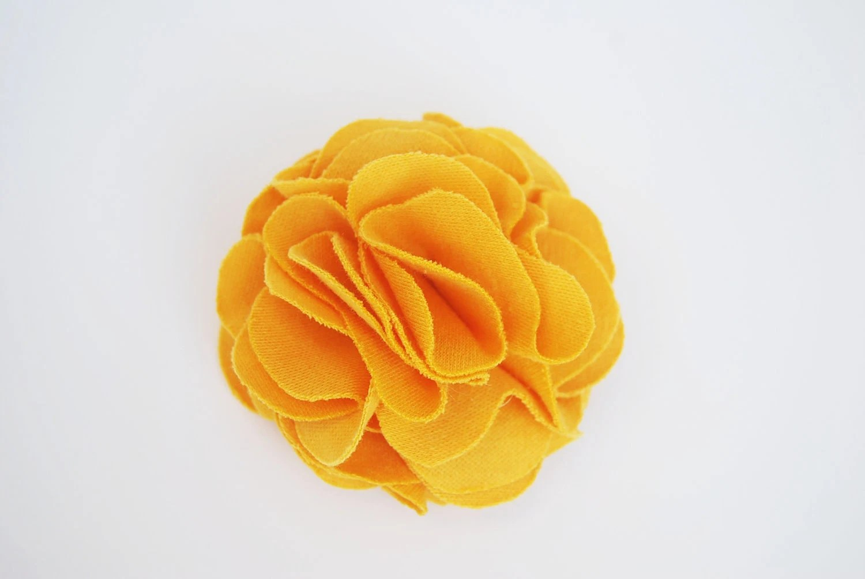 Yellow Fabric Flower Pin, Clip, Brooch, Women, Girls, Kids, Children - PetalPusherbyLaurel